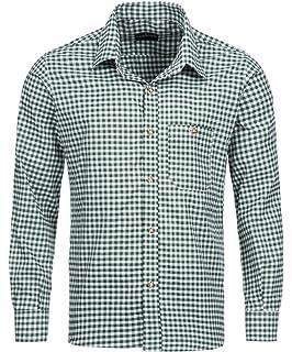 865e97eeb Tracht & Pracht - Men's Cotton Bavarian Traditional Alpine Shirt - Checked  Longsleeves