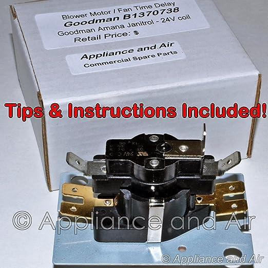 amazon.com: goodman janitrol amana furnace fan blower relay timer sequencer  + instructions: home & kitchen  amazon.com