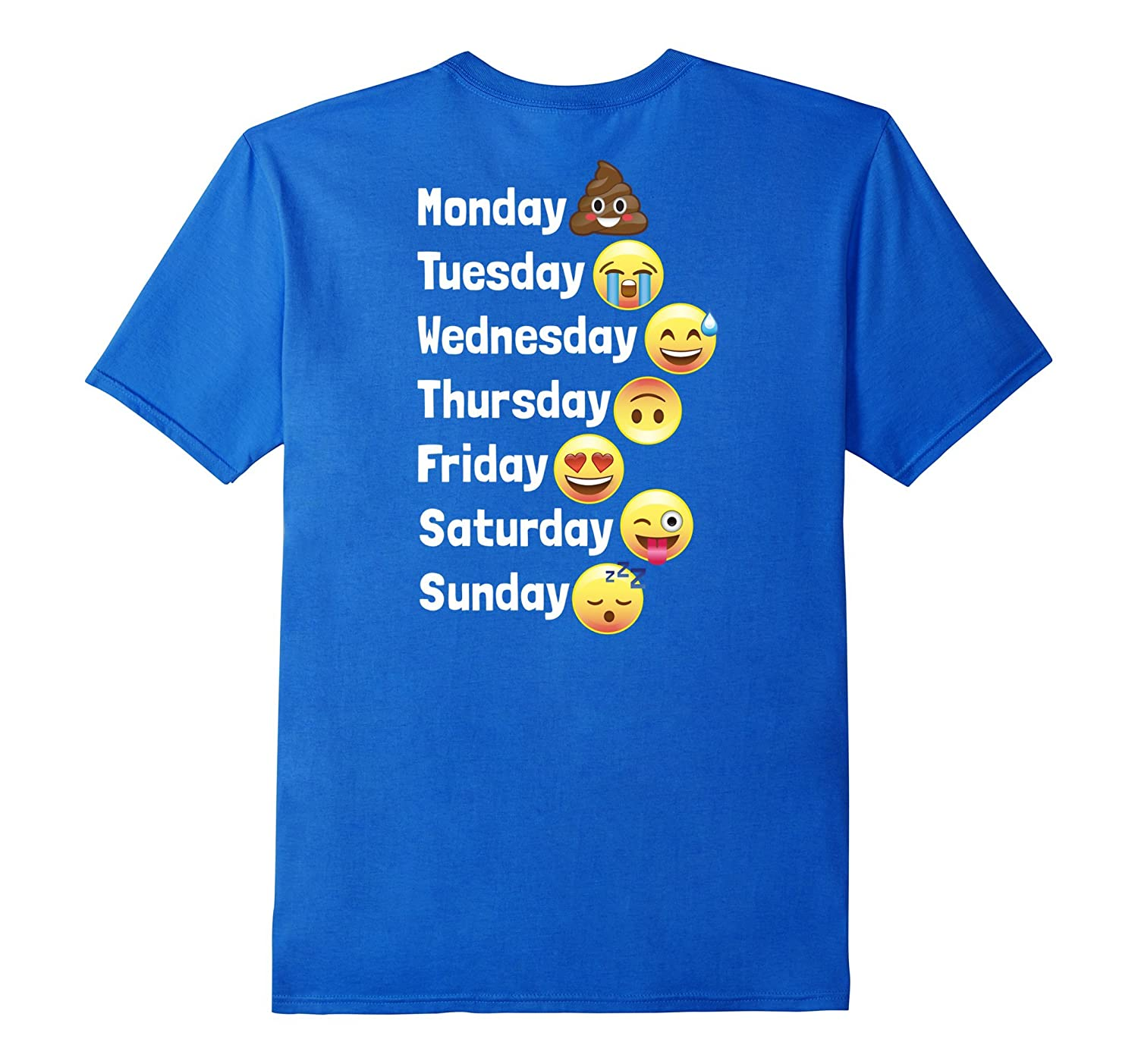 ee6a35f58e Funny Emoji Days of the Week with Poop Shirt – Kids Adults-CD – Canditee