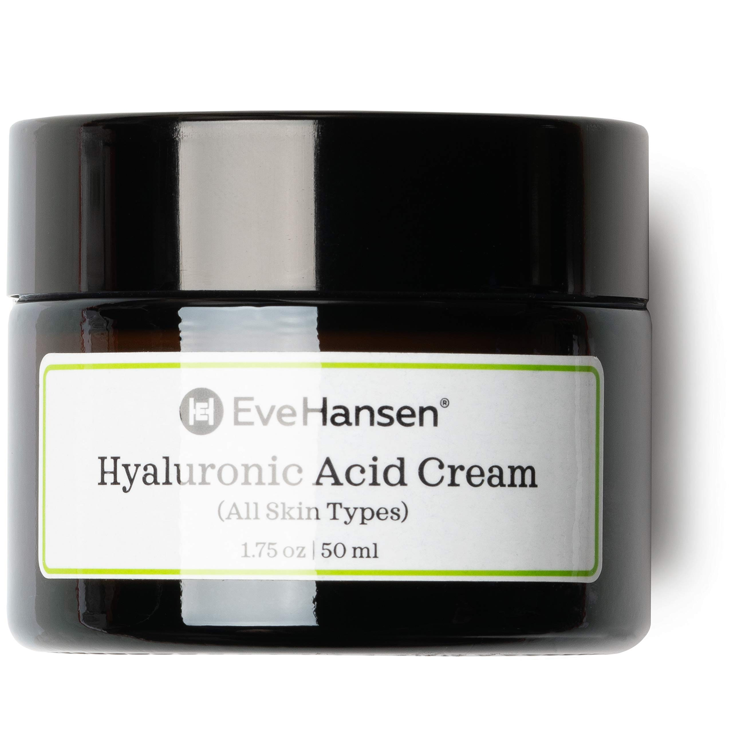 Eve Hansen Hyaluronic Acid Cream for Face | Natural Face Moisturizer, Neck Cream, Anti-Wrinkle Cream | Anti Aging Face Cream for Women, Mens Moisturizer for Face w/Organic Botanical Extracts 1.75oz by Eve Hansen