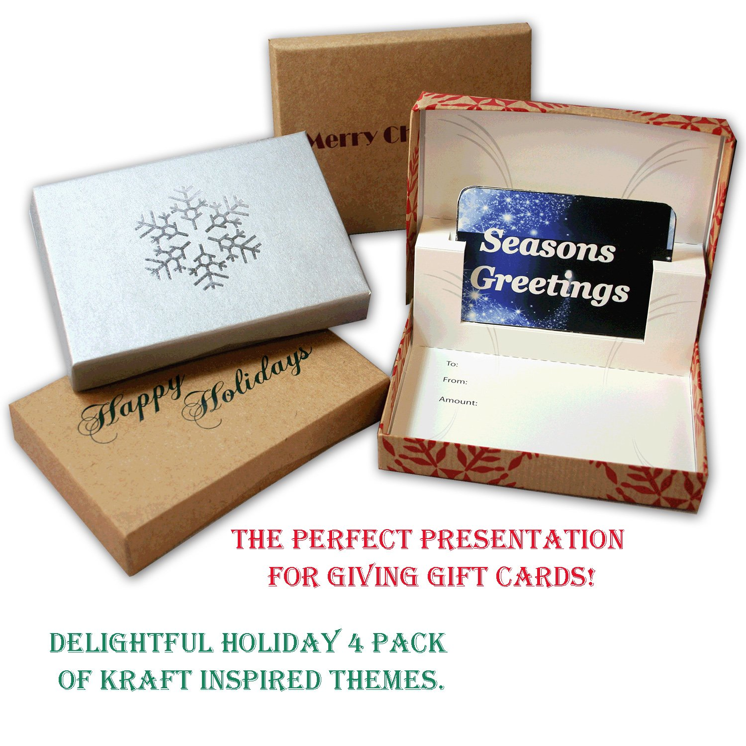 Krafty Christmas Gift Card Boxes 4 Pack Creative Carding