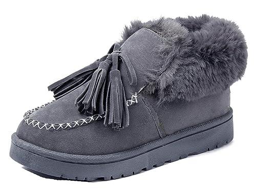 AgeeMi Shoes Mocasines Mujeres Invierno Nieve Botas Impermeable Plano Bota: Amazon.es: Zapatos y complementos