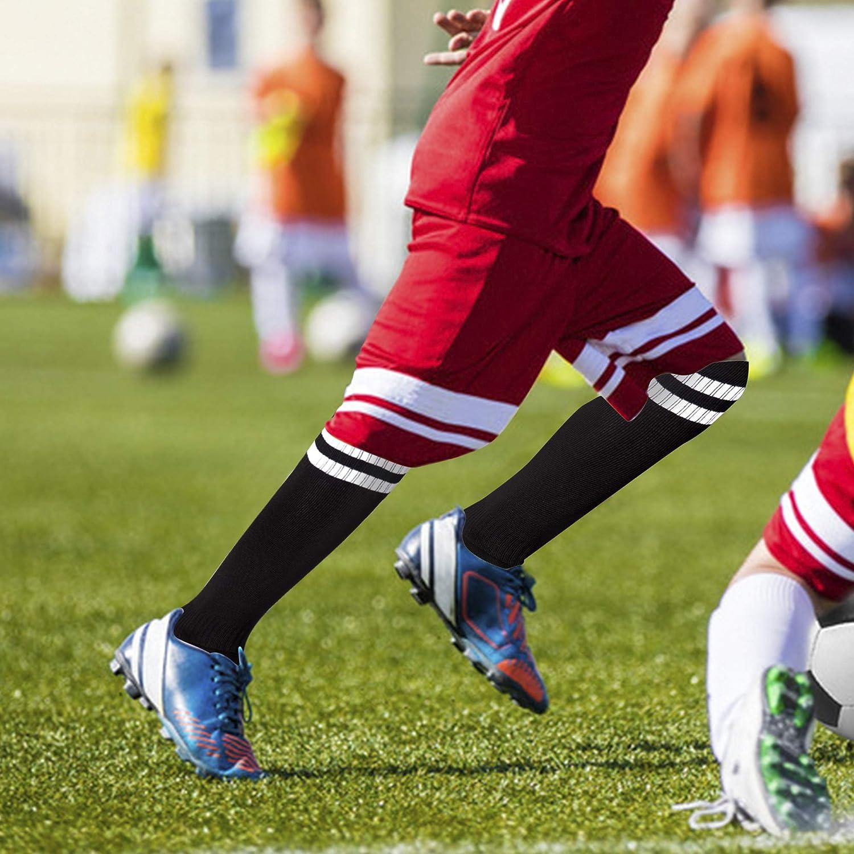 incarpo Kids Soccer Socks Boys Girls Keen High Tube Socks Youth Compression Long Sport Football Socks 1//2//3//5 Pairs