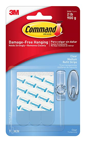Command Refill Strips, Medium, White, 9 Strips   Mounting Tapes   Amazon.com