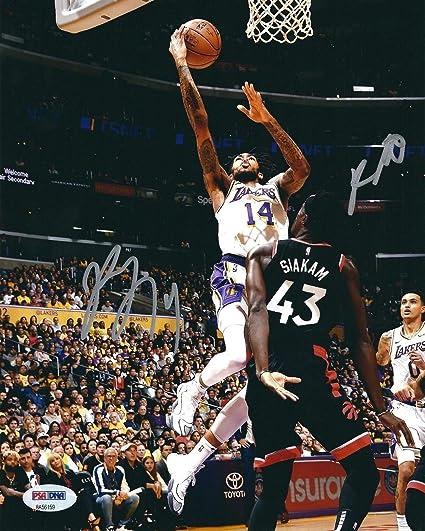 d4d2b726316 Kyle Kuzma Brandon Ingram Autographed Signed Memorabilia Lakers Basketball  8x10 Photo PSA/DNA 8A56159 at Amazon's Sports Collectibles Store