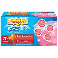 Emergen-C Immune+ System Support Dietary Supplement Drink Mix With Vitamin D, 1000mg...