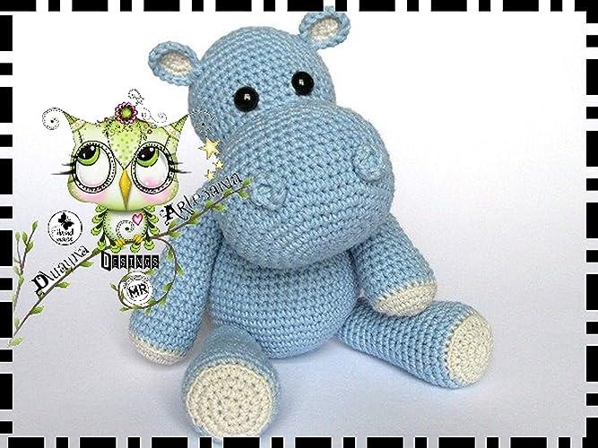 HIPOPÓTAMO, REGALO NAVIDAD, AMIGURUMI REGALO PERSONALIZABLE (Bebé, crochet, ganchillo, muñeco