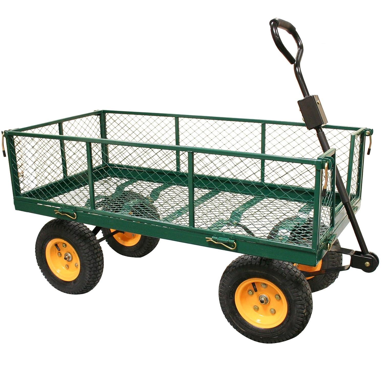 Rhyas Heavy Duty Garden Trolley Cart Wheelbarrow Quad Trailer X Large  500kg: Amazon.co.uk: DIY U0026 Tools