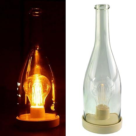 Botella de LED vintage, iluminación retro con ...