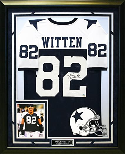 best website c8fc2 5aadf Jason Witten Autographed & Custom Framed Dallas Cowboys ...