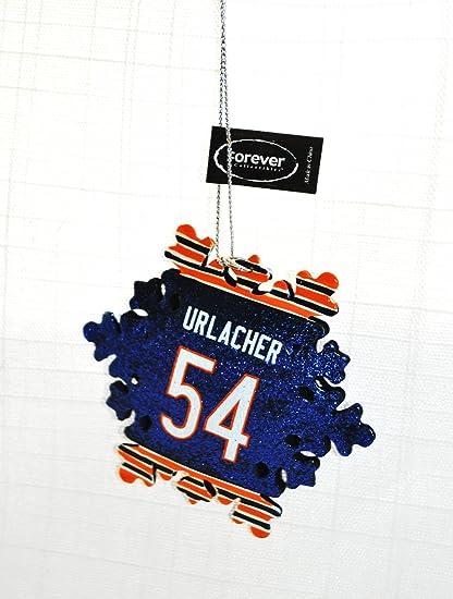 Brian Urlacher #54 Chicago Bears Team logo Snowflake Christmas Ornament