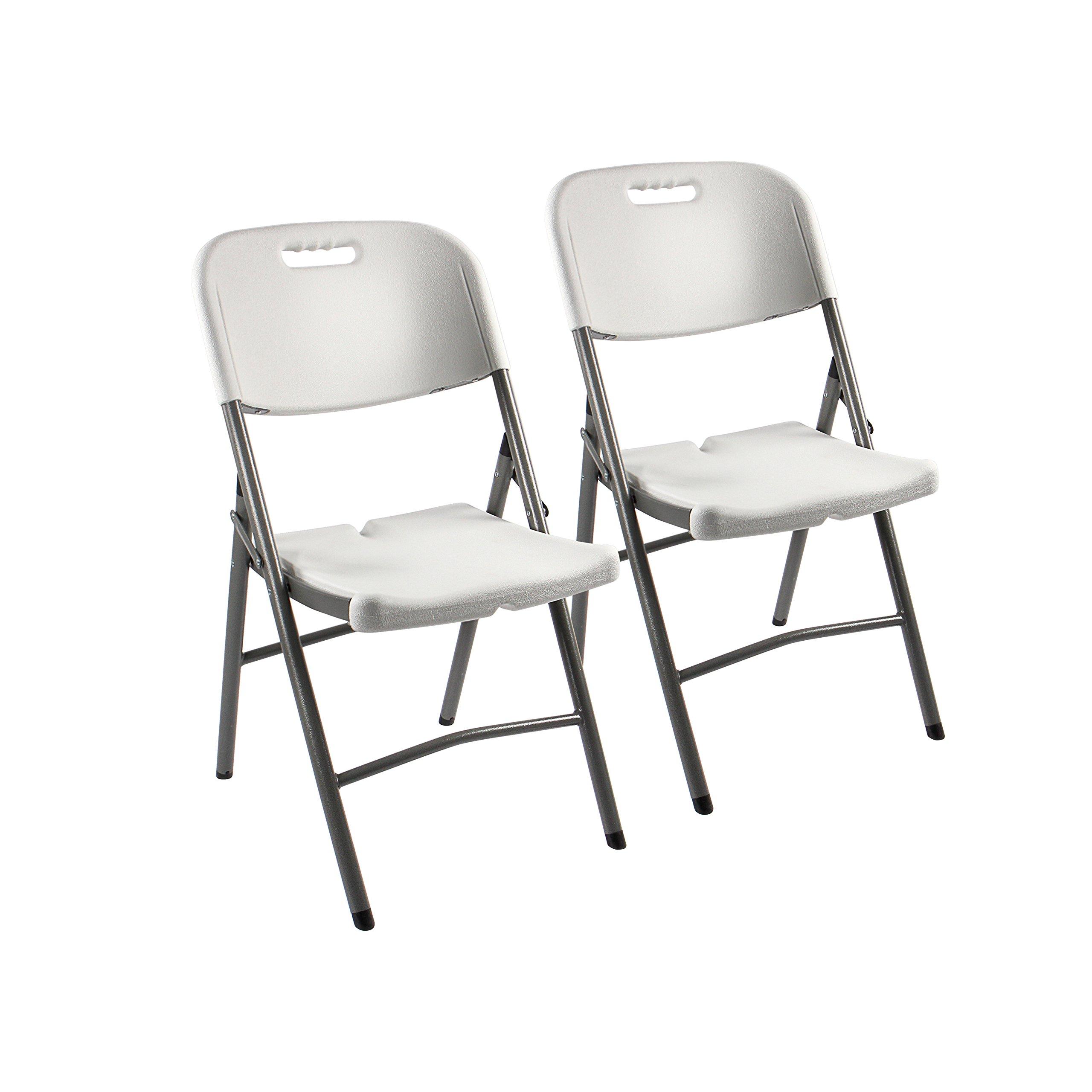Vanage Klappstuhl In Weiß   Gartenstuhl Im 2er Set   Klappsessel    Gartenmöbel   Stuhl Für Garten, Terrasse Und Balkon Geeignet