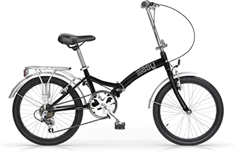 Mbm Easy 20 Bycycle Folding Bike Bicicleta Plegable Negro Lata: Amazon.es: Deportes y aire libre