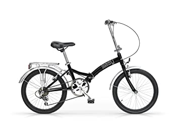 MBM EASY 20 BYCYCLE FOLDING BIKE BICICLETA PLEGABLE NEGRO/PLATA