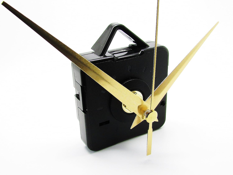 Repuesto de mecanismo del motor para el movimiento de reloj de cuarzo silencioso, manillas de metal y accesorios, plástico, dorado, 86 mm