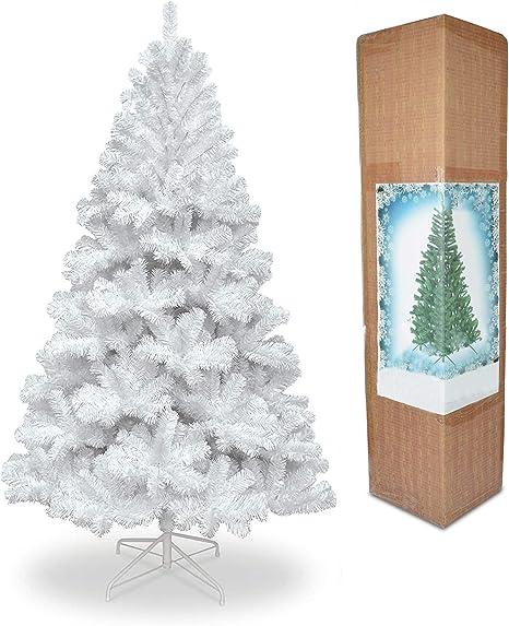 Shatchi - Soporte de Metal Artificial para árbol de Navidad (1,2 m, 120 cm), Color Blanco: Amazon.es: Hogar