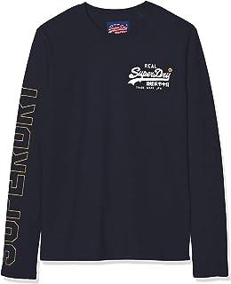 Superdry Downhill Racer LS tee Camisa Manga Larga para Hombre