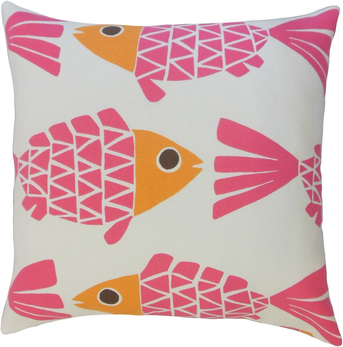 Amazon Com The Pillow Collection P18 Ft 29023 Pink Out Valmai Graphic Pillow Pink Home Kitchen