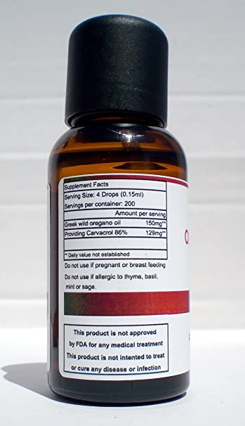 100% Puro Aceite Esencial Orégano 30 ml-1oz: Amazon.es: Hogar