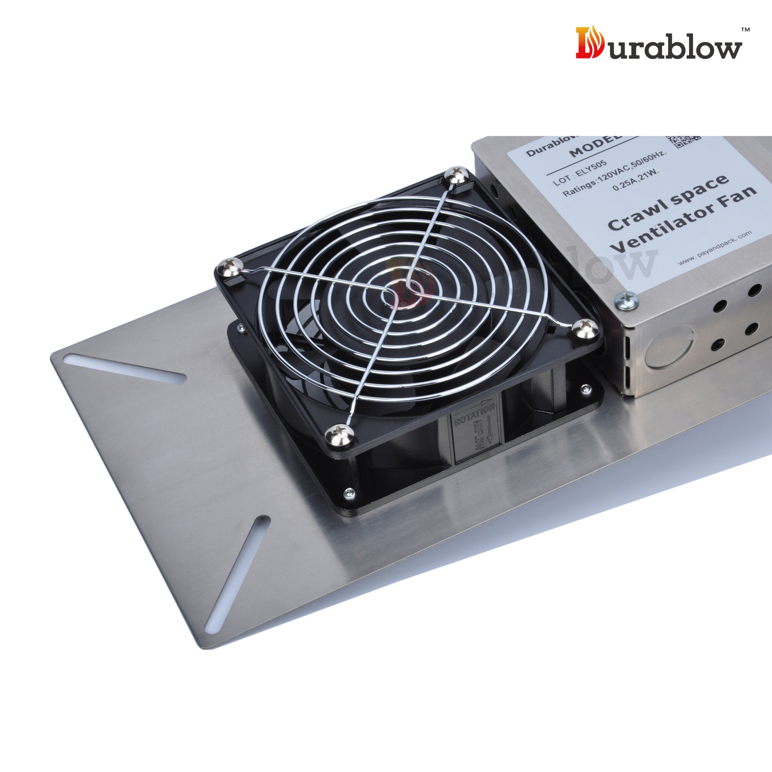 Durablow Stainless Steel 304 Crawl Space Foundation Fan Ventilator MFB M1 by Durablow (Image #3)