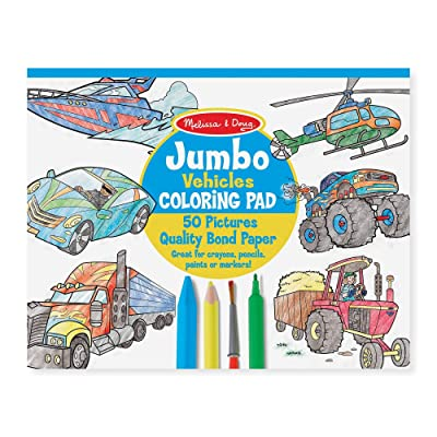 Melissa & Doug Jumbo Coloring Pad - Vehicles: Melissa & Doug: Toys & Games