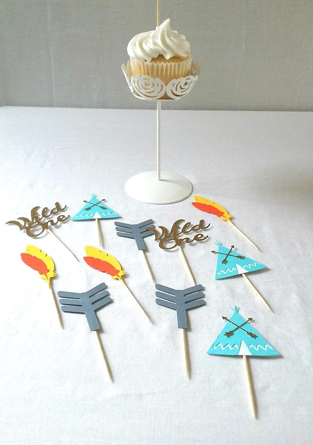 Tribal Cupcake Toppers - boy tribal birthday - tribal decorations - boho - aztec