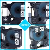 Anycolor 5 Pack Compatible DYMO D1 Label Tapes