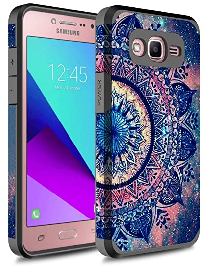 quality design 13f66 e66b0 J2 Prime Case, Galaxy Grand Prime Case, Rosebono Hybrid Dual Layer  Shockproof Hard Cover Graphic Fashion Colorful Silicone Case for Samsung  Galaxy ...