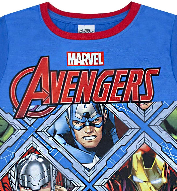 Breve Pigiama di Pannelli Marvel Avengers Blu Red Boy