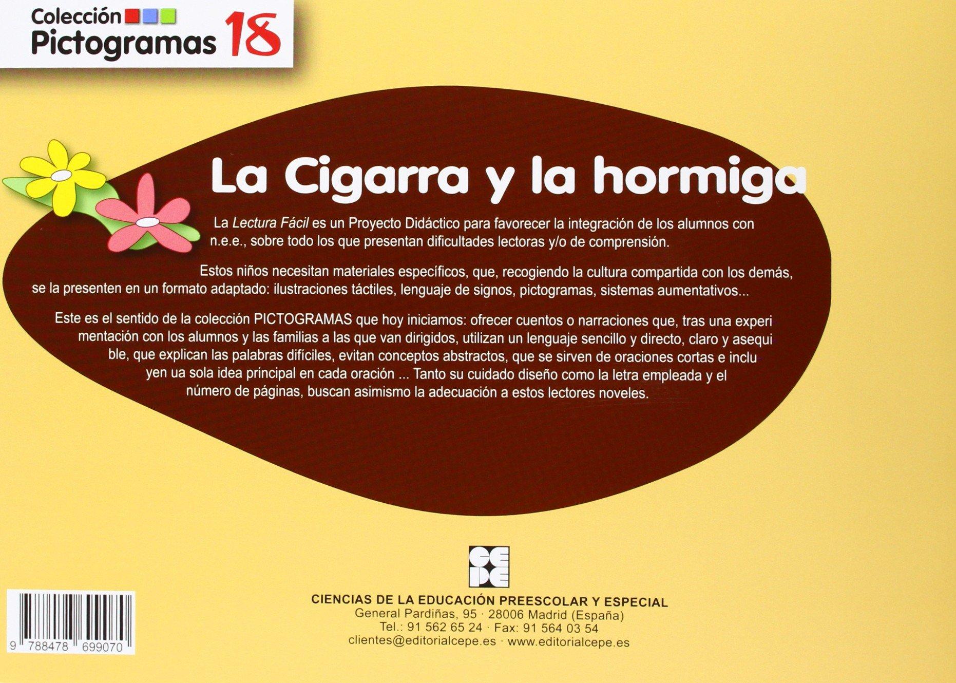 LA CIGARRA Y LA HORMIGA.PICTOGRAMAS.(MAT.INTERVENCION EDUC ...