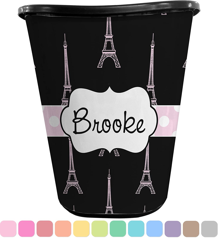 Black Eiffel Tower Waste Basket (Black) (Personalized)