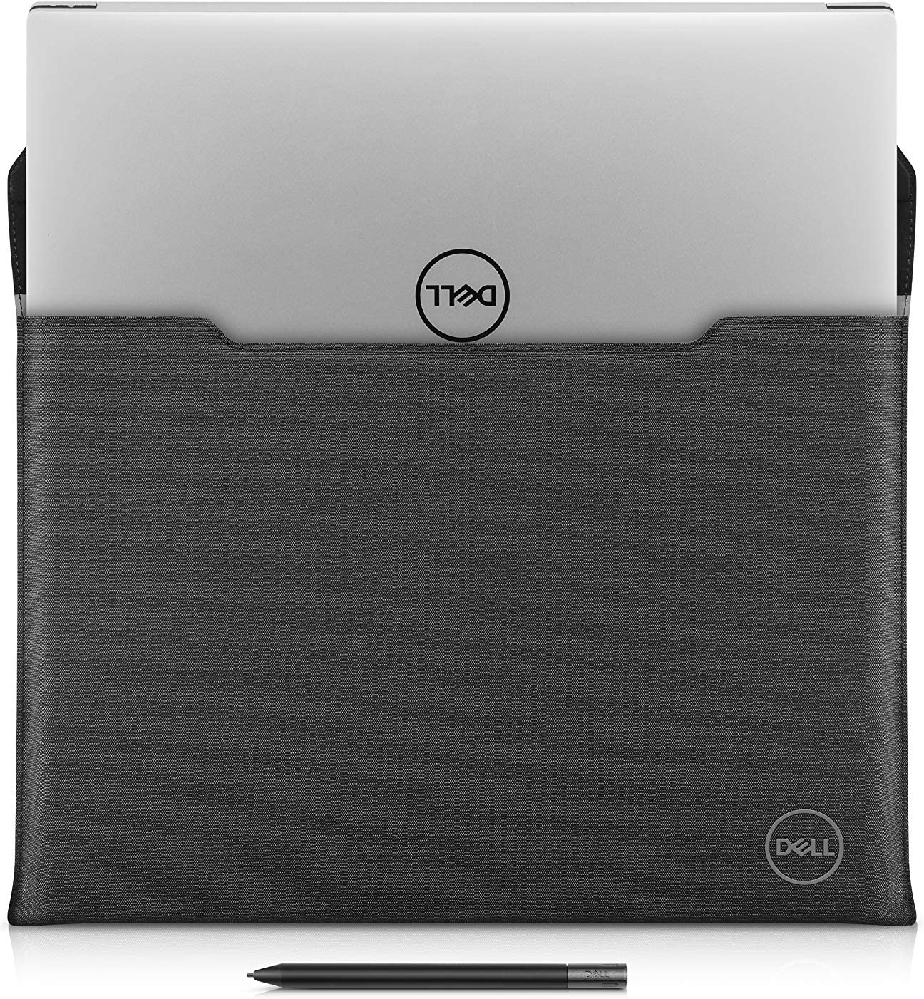Dell Premier Sleeve 17 17 inch Laptop Case - Magnetic Snap Button Black Leather with Grey Heather Exterior - for Precision Mobile Workstation 5750, XPS 17 9700