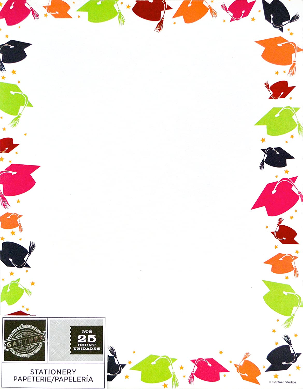Buy Gartner Studios Specialty Paper Graduation Cap Border 85 X 11