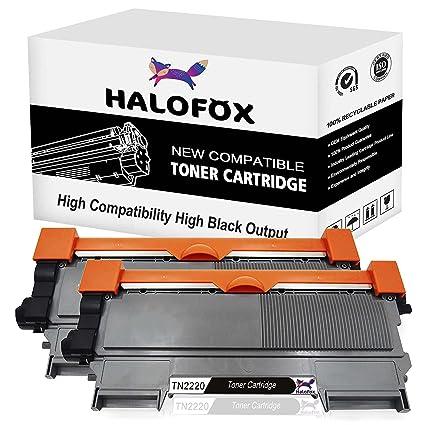 HaloFox 2 Negro Cartuchos de tóner TN2220 para Brother DCP-7060D ...
