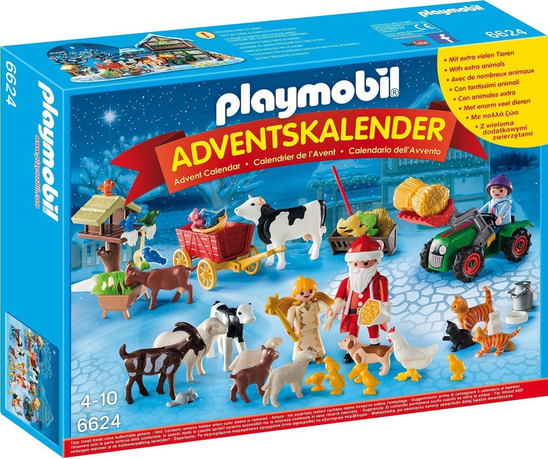 Playmobil: Calendario de adviento Papá Noel de la Granja: Amazon.es: Jardín