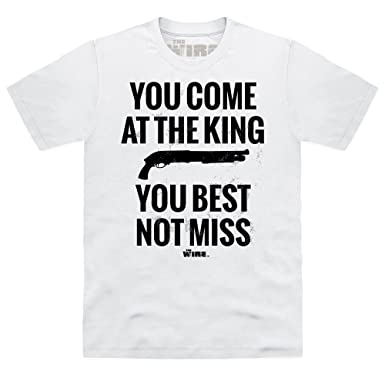 Official The Wire - You Come At The King T Shirt, Male: Amazon.co ...
