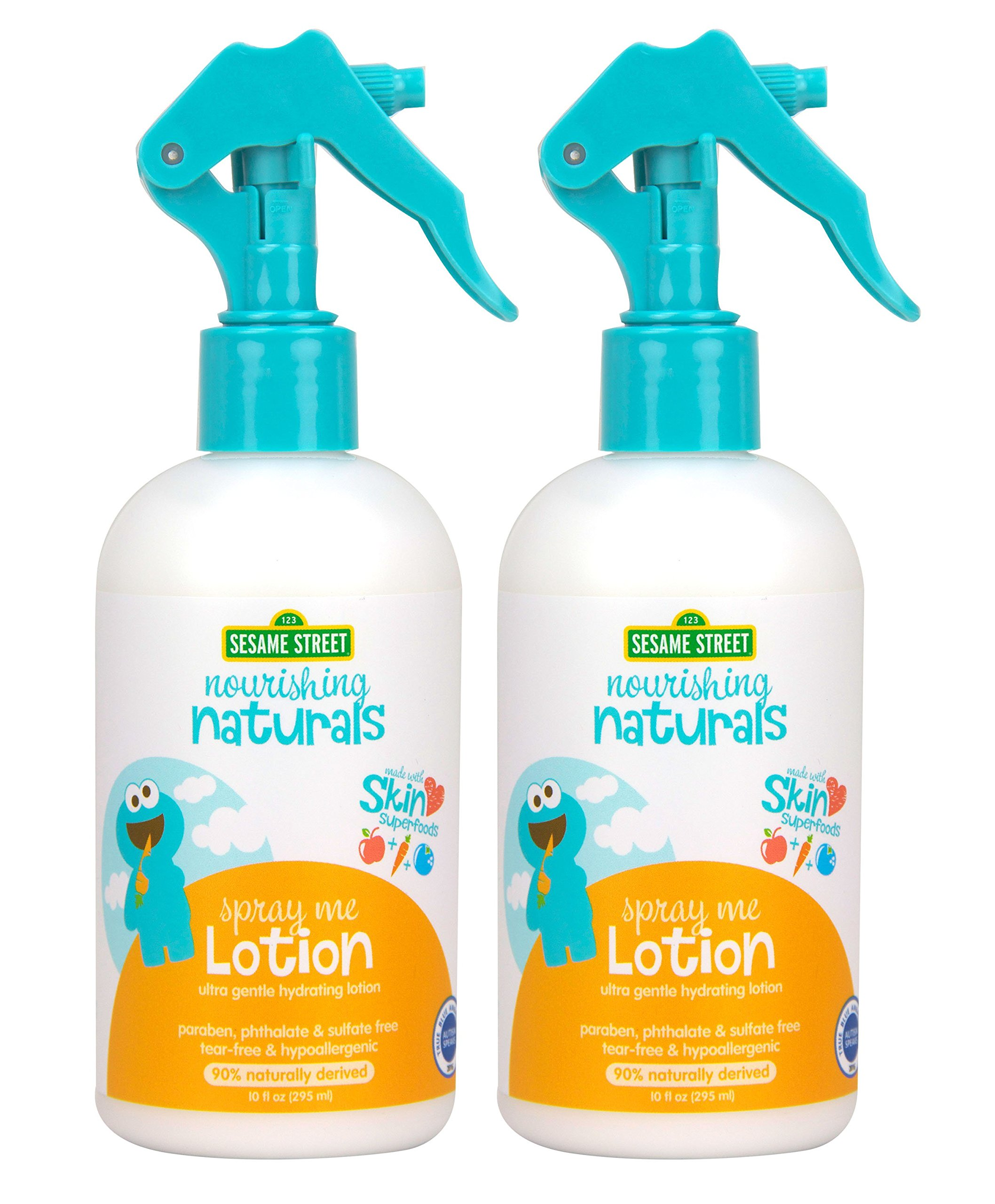 Sesame Street Nourishing Naturals Spray Lotion 10 oz 2 Pack