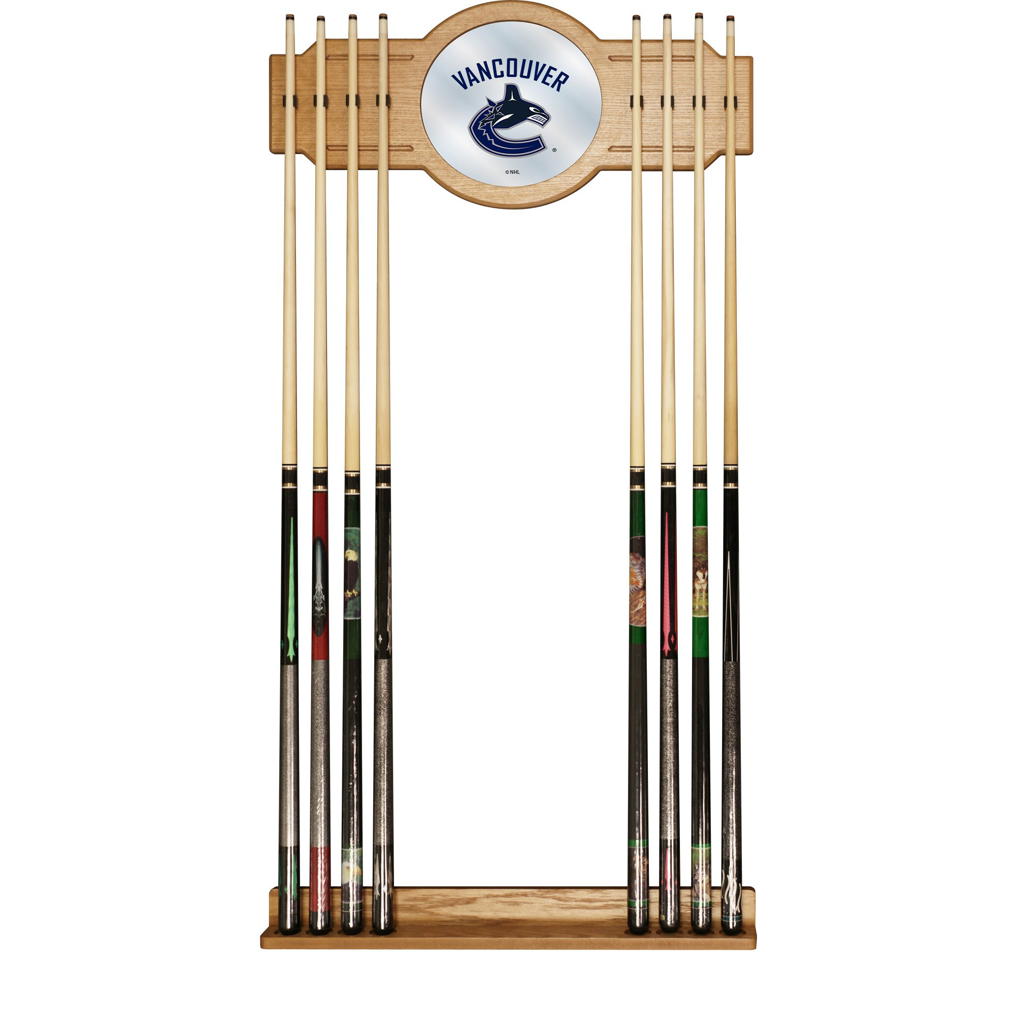 Trademark Gameroom NHL Vancouver Canucks Cue Rack with Mirror