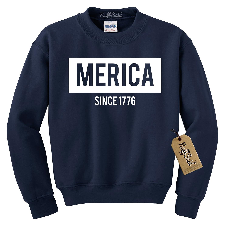 USA Unisex Crew NuffSaid US Merica Crewneck Sweatshirt United States 4th of July