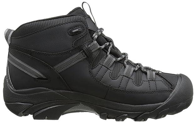 KEEN Herren Wanderschuh Hikingschuh TARGHEE II MID - TAC Black/Gargoyle  Schwarz/Grau - 1012863, Groesse:45 EU / 11.5 US: Amazon.es: Zapatos y  complementos