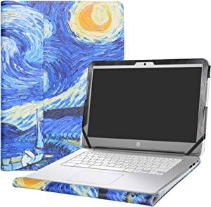 "Alapmk Protective Case Cover for 14"" HP Chromebook 14 14-akXXX 14-XXXX 14-qXXX & HP Chromebook 14 G1 G2 G3 G4 Series Laptop(Warning:Not fit HP Chromebook 14 G5/14-caXXX Series),Starry Night"