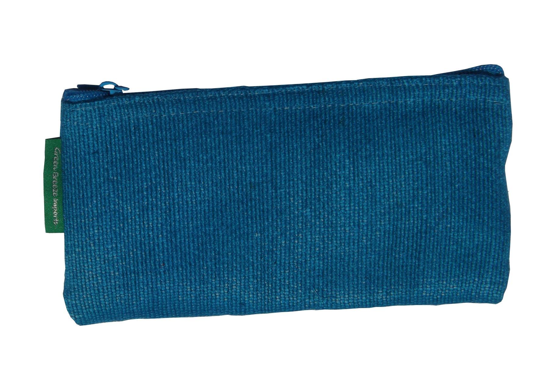Green Breeze Imports Teal Handmade Abaca Eyeglass Case