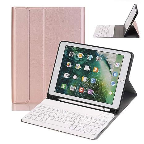 5a6b0041ca1 NewKee iPad 9.7 Keyboard Case with Pencil Holder for iPad 9.7 2018&2017,iPad  Pro 9.7