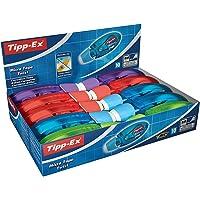 Tipp-Ex Korrekturroller Micro Tape Twist mit drehbarer Schutzkappe – Korrekturmäuse 4-fach sortiert: blau, rot, lila und grün – 10 Stück à 8m x 5mm