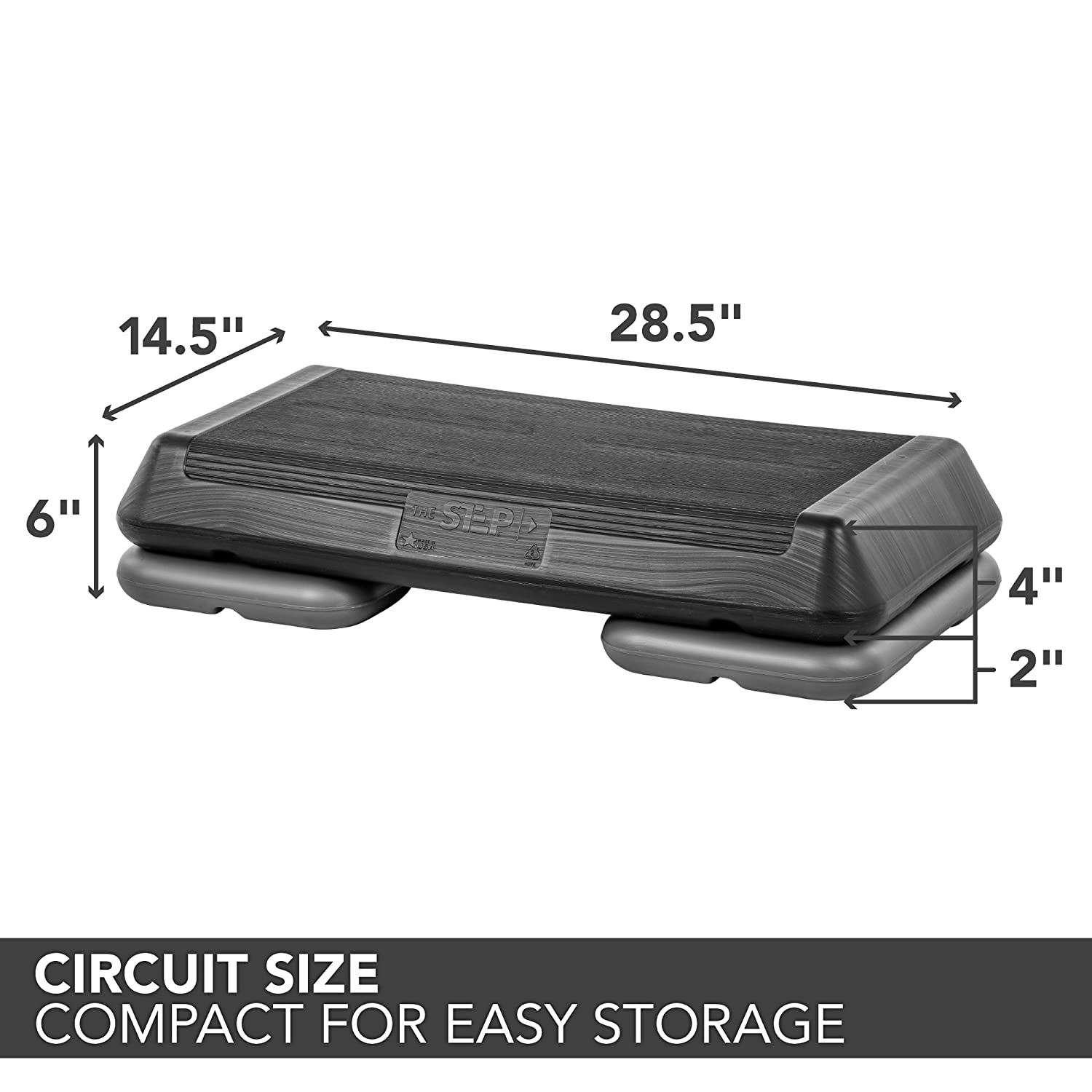 The Step Original Circuit Size Aerobic Platform With By Clicking On Verify Icon Lock Black Nonslip And Two Grey Risers Sports Outdoors