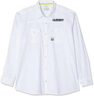 15 801 21 2883, Camisa Casual para Hombre, Azul (Spring Blue 53A8), XXXL s.Oliver
