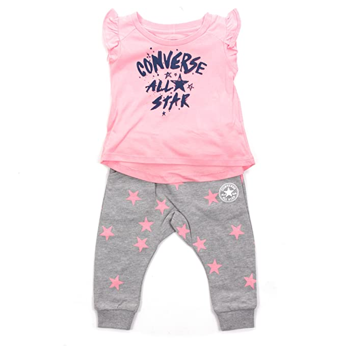aad0192ea Converse All Star Infant Jogger & Tunic Set Pink/Grey - 3-6 Months ...