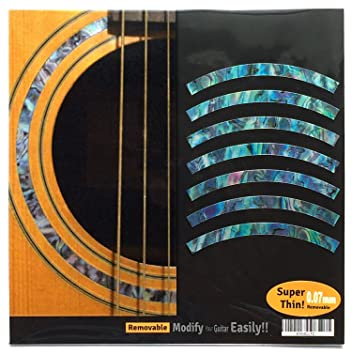 Amazon.com: Inlay calcomanía Guitarra Acústica purflinng ...