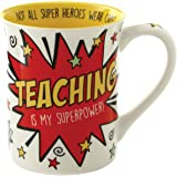 "Enesco Our Name is Mud by Lorrie Veasey Teaching is My Super Power Mug, 4.5"", Multicolor"