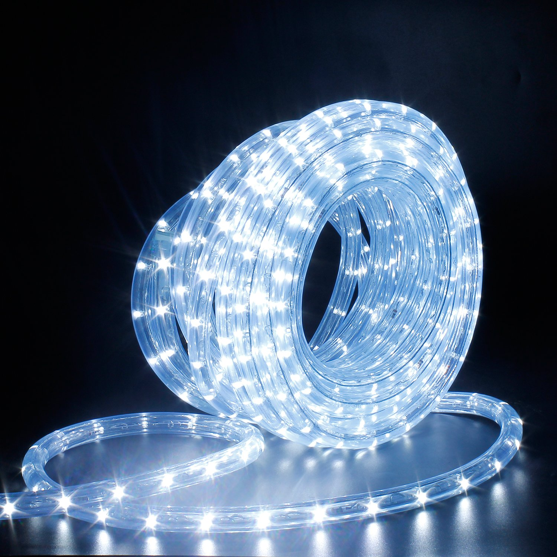 LED Lichterschlauch Lichterkette Licht Leiste 36LEDs//M Schlauch f/ür Innen und Au/ßen IP65 Led Schlauch 12M Kaltwei/ß